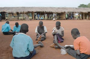 Pupils study in terrible conditions