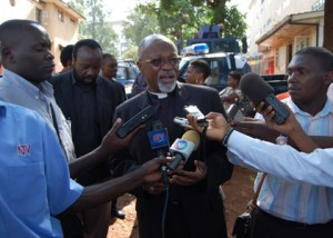 Bishop Niringiye at Wandegeya Police Station