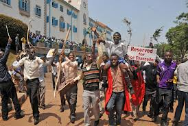 Makerere University students in a previous demonstration