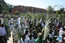 Christians on Palm Sunday