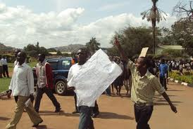 Kyambogo University students in a previous strike