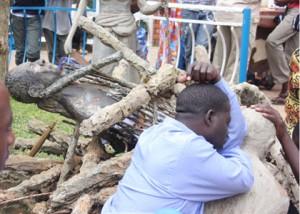 One of faithfuls at the Namugongo shrines