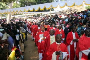 Part of the clergy at the Martyrs Day celebrations