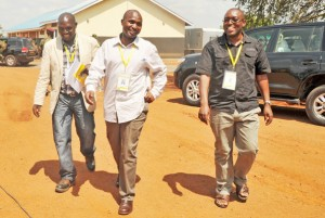 MPs Barnabas Tinkasimire, Theodore Sekikubo and Wilfred Niwagaba