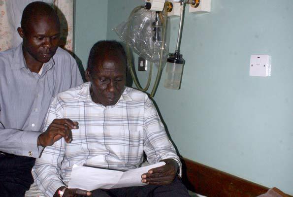 The late Adris Mustafa earlier at Mulago Hospital