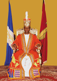 Kabaka on the throne
