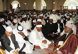 Mufti leading prayers