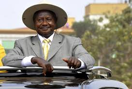 Museveni in the field