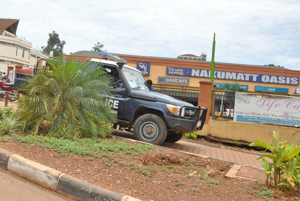 Police truck at Nakumatt