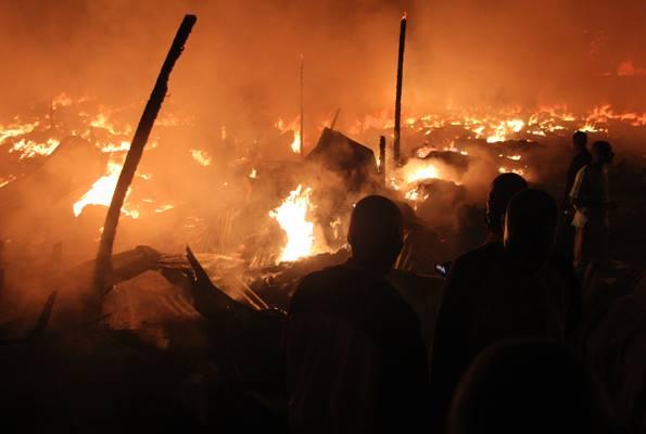 Fire Destroys Jinja Market