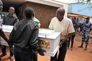 Paddy Bitama's coffin