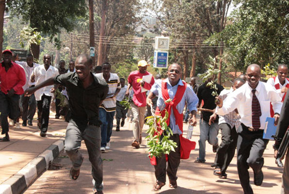 Makerere students on strike