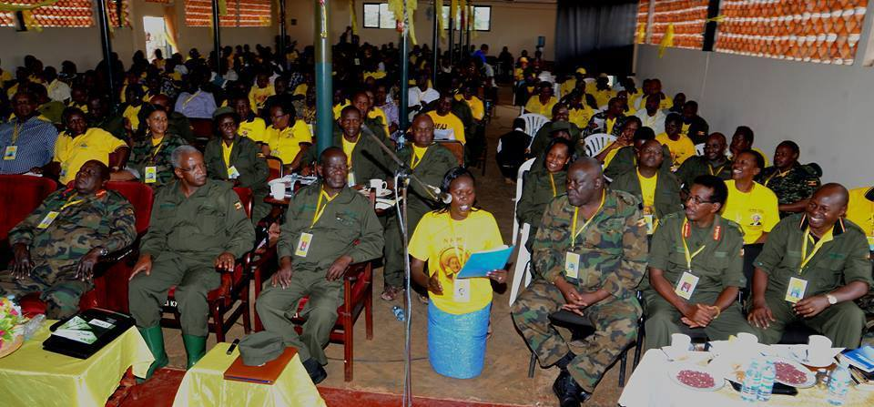 NRM caucus spokesperson Evelyn Anite in Kyankwanzi earlier