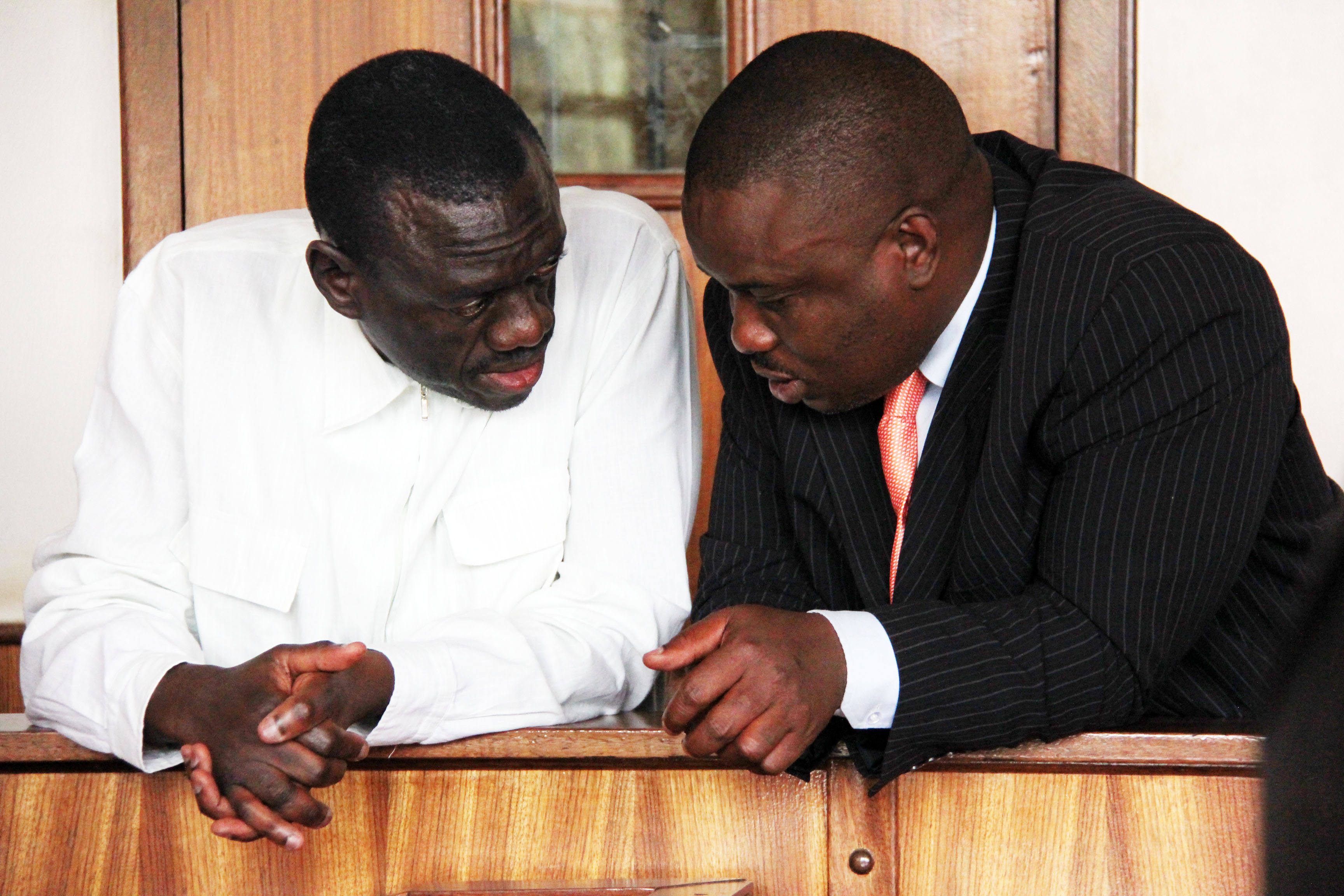Former FDC leader Dr. Kiiza Besigye and Kampala Lord Mayor Erias Lukwago in court
