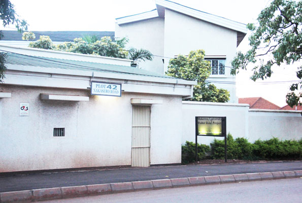 Walter Reed Project offices in Nakasero, Kampala, which were closed at the weekend. PHOTO BY ABUBAKER LUBOWA
