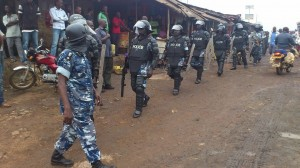 police deploys in town
