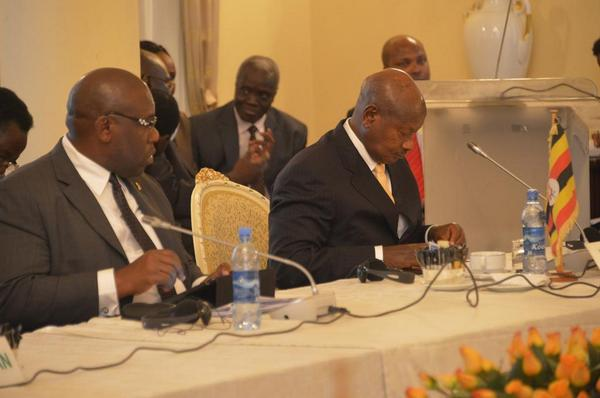 Museveni at IGAD summit