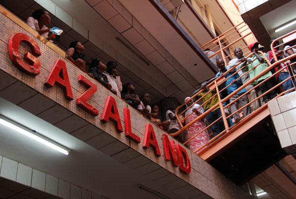 TRaders on strike at Gazaland
