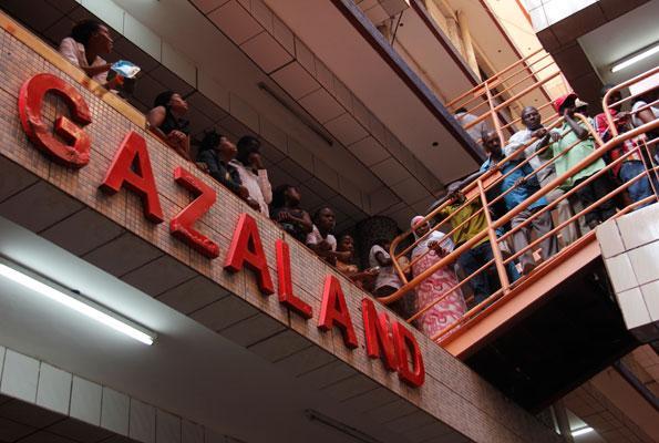 TRaders on strike at Gazaland