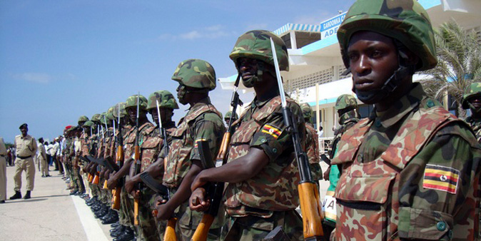 UPDF troops in Somalia