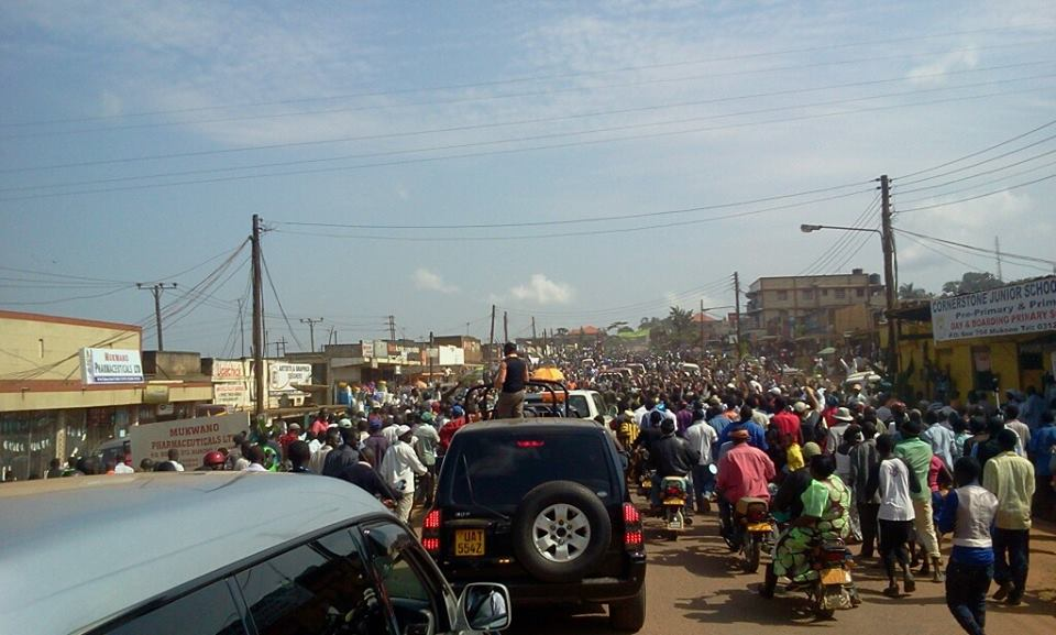 Protests in Kayunga town