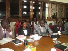 Minister Kiwanuka before MPs