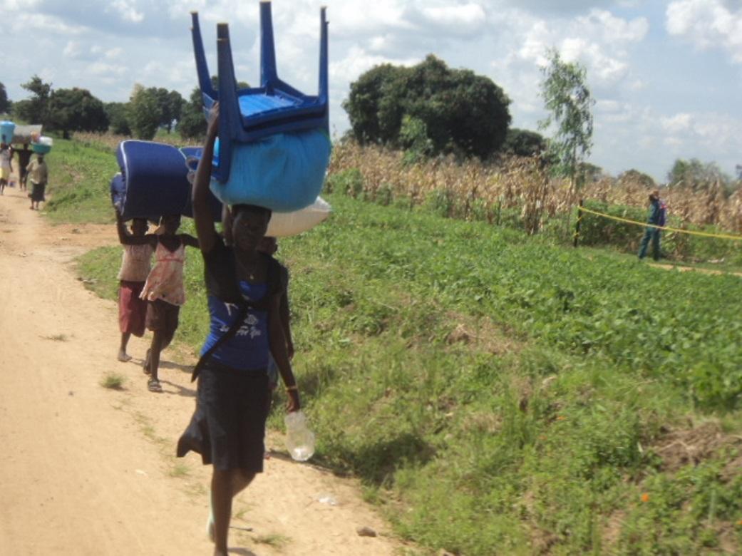 Residents fleeing