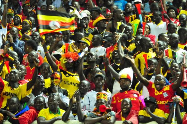 Cranes fans cheer at Namboole Stadium