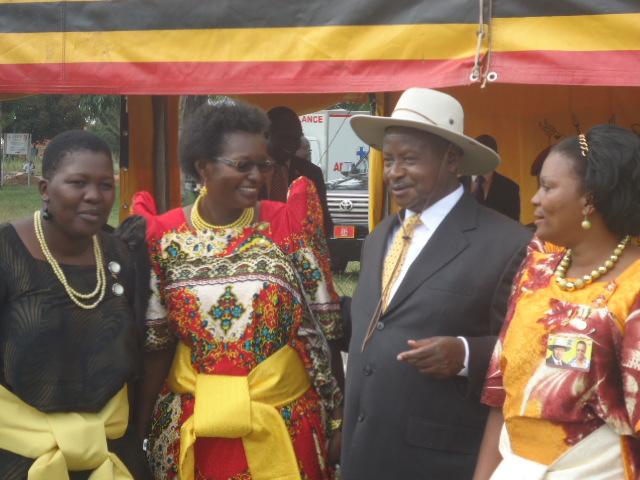 President Yoweri Museveni and NRM aspirants in Serere