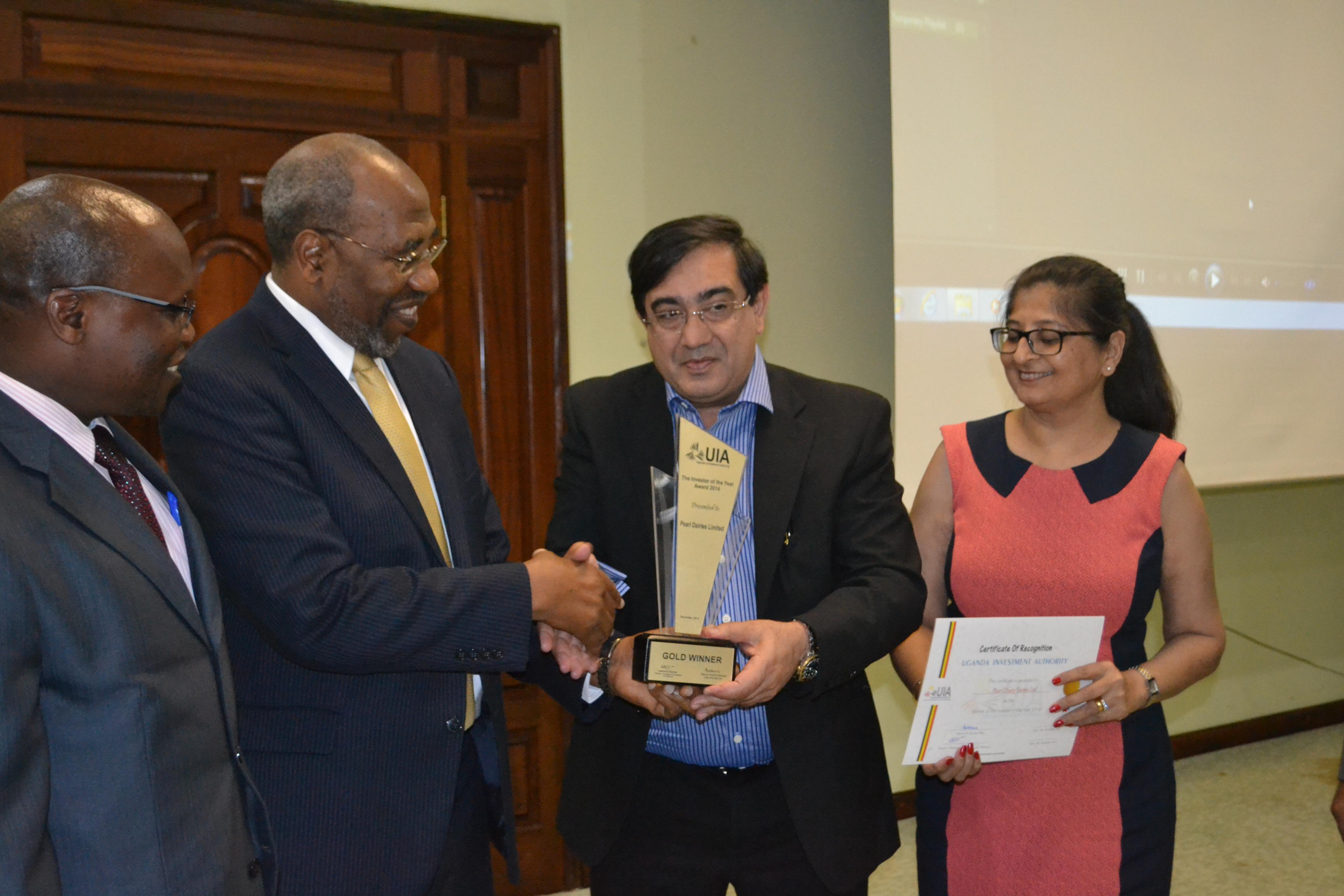 Rugunda awards investor