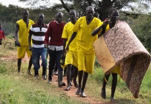 Prisoners escorted