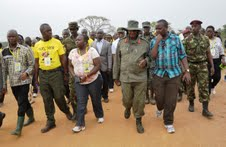 Presidnet Museveni at an earlier Kyankwanzi retreat