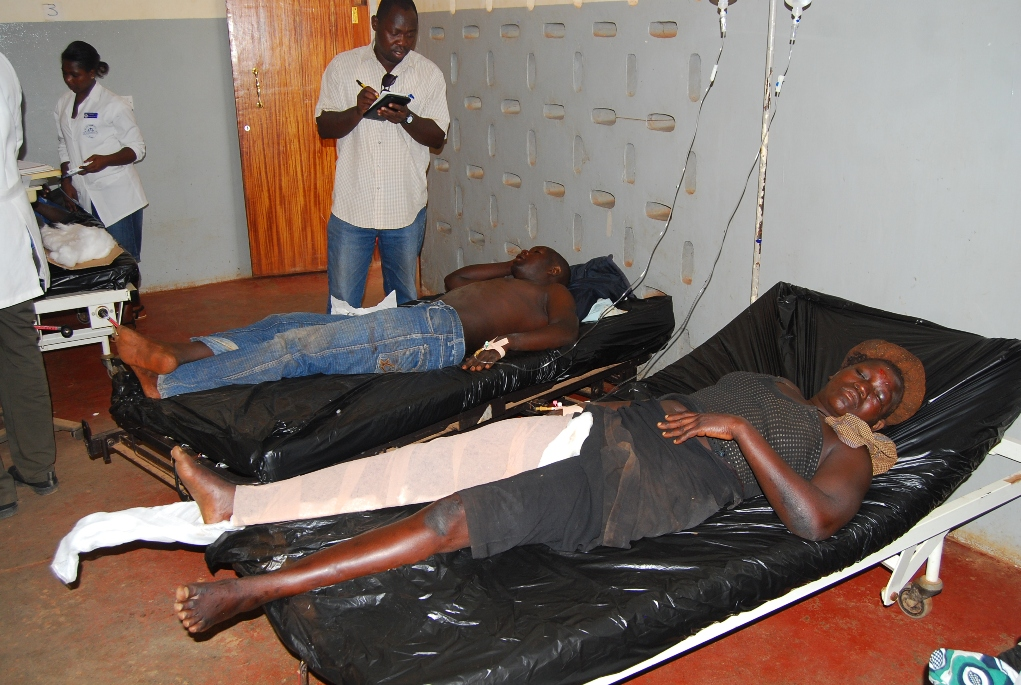 Accident victims in hospital