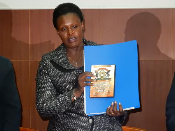 Education Minister Jessica Alupo releases 2014 UCE results