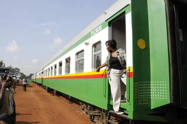 Jenniffer Musisi on train