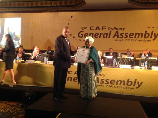 CAF honours AU Commission Chairperson