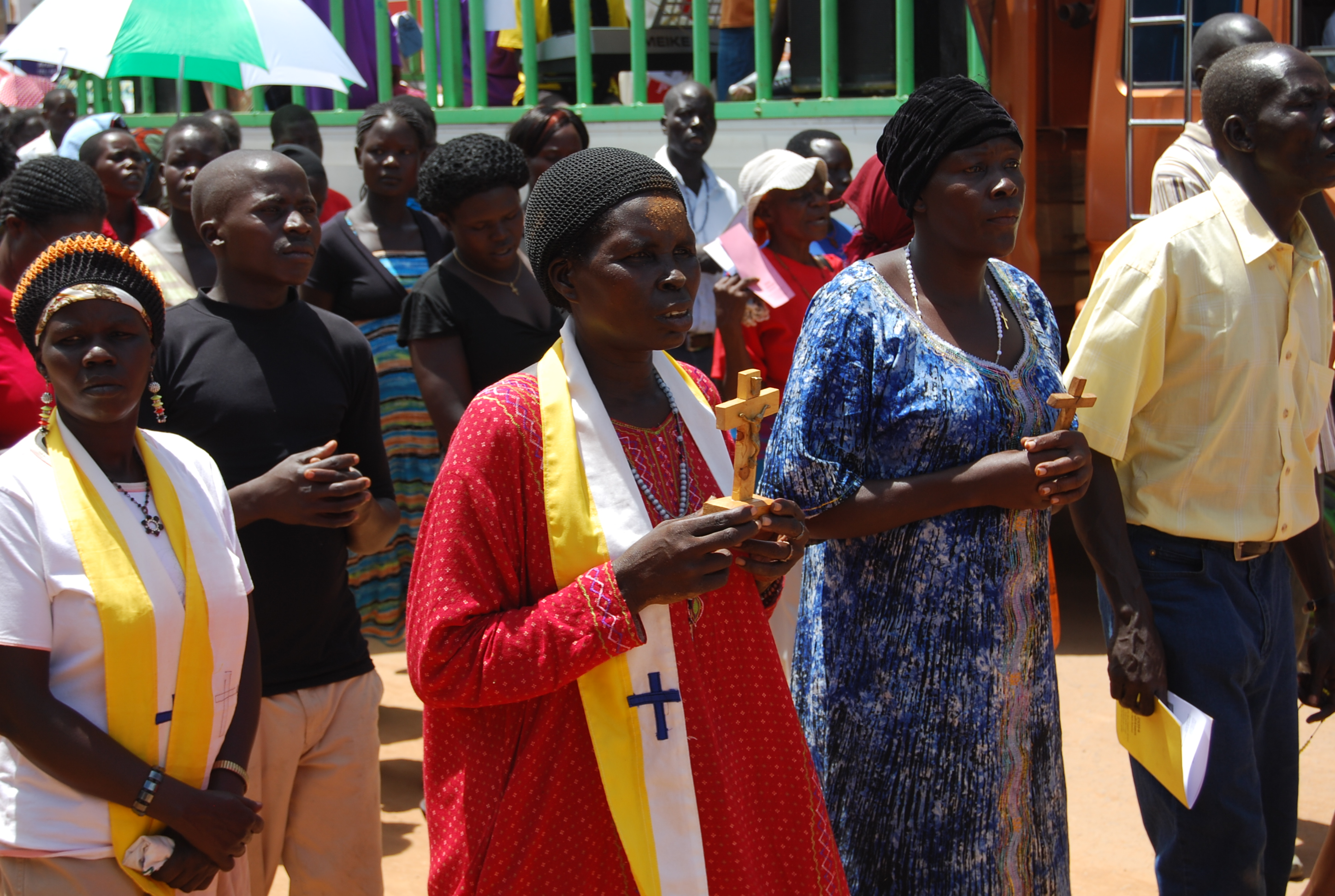 Christians take part in the Way of the Cross