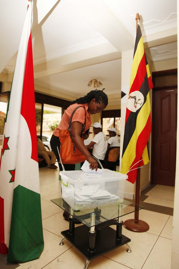 Burundi citizens vote in Kampala