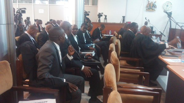 Lawyers ready at Supreme Court Kololo. Photo by Pascal Kwesiga