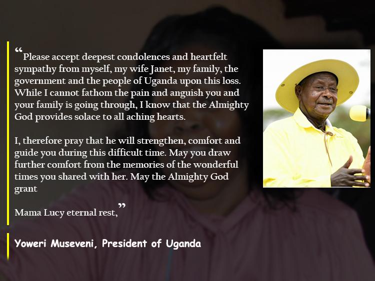 M7 Lucy Kibaki Condolense