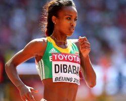 Ethiopian runner Genzebe Dibaba breaks new record