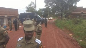 The Scene in Kulambiro after the murder of AIGP Felix Kaweesi
