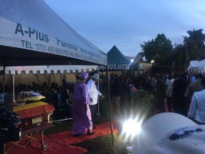 President Museveni at the Vigil