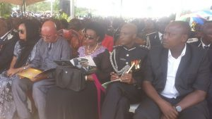 The AIGP and Jeje Odongo sitted among the mourners