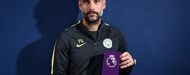 Guardiola wins 1st Premier League Manager of the Month award