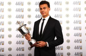 Tottenham midfielder Dele Alli won the young player prize for the second successive season