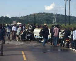 Masaka accident taxi driver on the run