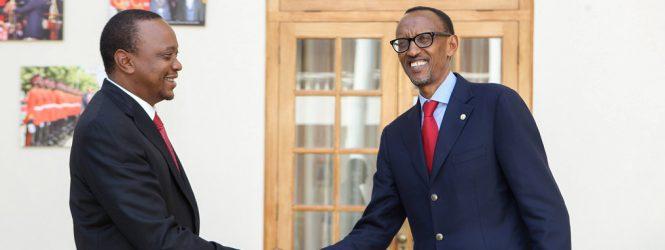 Kagame congratulates Kenyatta